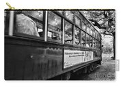 St. Charles Ave Streetcar Whizzes By-black And White Carry-all Pouch