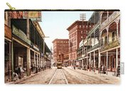 St Charles Street New Orleans 1900 Carry-all Pouch by Unknown