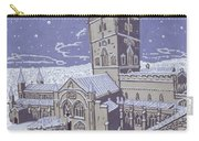 St David S Cathedral In The Snow Carry-all Pouch by Huw S Parsons