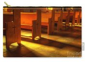 St Francis De Paula Shadow And Light Carry-all Pouch by Bob Christopher