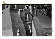St Francis In Black And White Carry-all Pouch
