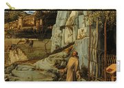 St Francis Of Assisi In The Desert Carry-all Pouch