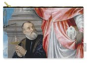 St. Jerome And A Donor Carry-all Pouch