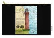 St Johns River Lighthouse Fl Nautical Chart Map Art Cathy Peek Carry-all Pouch