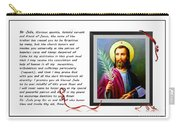 St. Jude Patron Of Hopeless Cases - Prayer - Petition Carry-all Pouch by Barbara Griffin