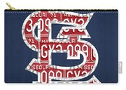 St. Louis Cardinals Baseball Vintage Logo License Plate Art Carry-all Pouch