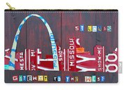 St. Louis Skyline License Plate Art Carry-all Pouch by Design Turnpike