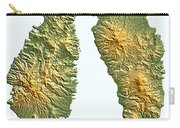 St Lucia And Dominica Map Carry-all Pouch
