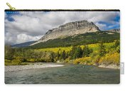 St. Mary River And East Flattop Mountain Carry-all Pouch