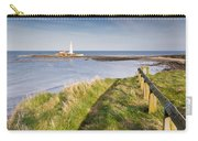 St Marys Lighthouse From Cliff Top Carry-all Pouch
