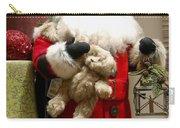 St Nick Teddy Bear Carry-all Pouch by Jon Berghoff