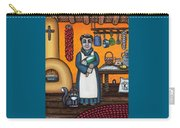 St. Pascual Making Bread Carry-all Pouch by Victoria De Almeida
