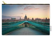 St. Paul's Cathedral And Millennium Bridge In London Carry-all Pouch