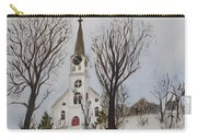 St. Pauls Church In Barton Vt In Winter Carry-all Pouch