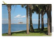 St Pete Pier Through Palm Trees Carry-all Pouch by Carol Groenen