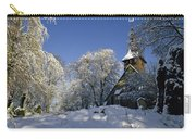 St Peter's Church In The Snow Carry-all Pouch