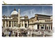 St Peters Square - Vatican Carry-all Pouch by Jon Berghoff