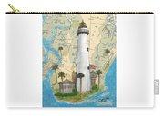 St Simons Lighthouse Ga Nautical Chart Map Art Cathy Peek Carry-all Pouch