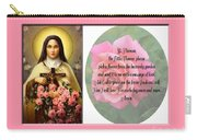 St. Theresa Prayer With Pink Border Carry-all Pouch