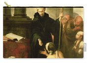 St. Thomas Of Villanueva Distributing Alms, 1678 Oil On Canvas Carry-all Pouch