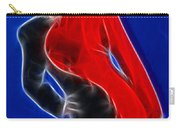 Stacey Red And Black Fractal Carry-all Pouch