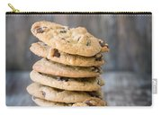 Stack Of Chocolate Chip Cookies With One Leaning Kitchen Art Carry-all Pouch