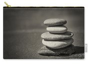 Stacked Pebbles On Beach Carry-all Pouch by Elena Elisseeva