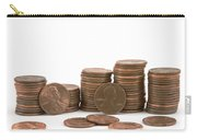 Stacks Of American Pennies White Background Carry-all Pouch