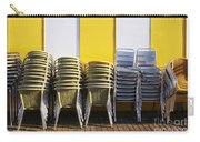 Stacks Of Chairs And Tables Carry-all Pouch by Carlos Caetano