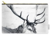 Stag In Black And White Carry-all Pouch