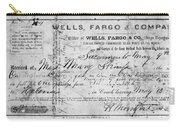 Stagecoach Ticket 1868 Carry-all Pouch