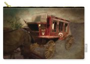 Stagecoach West Sepia Textured Carry-all Pouch