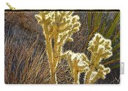 Staghorn Cholla Cactus Catching Sunlight In Joshua Tree Np-ca Carry-all Pouch