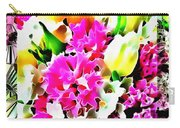 Stain Glass Framed Florals Carry-all Pouch
