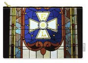 Stained Glass 3 Panel Vertical Composite 01 Carry-all Pouch by Thomas Woolworth