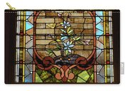 Stained Glass 3 Panel Vertical Composite 02 Carry-all Pouch by Thomas Woolworth