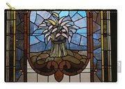 Stained Glass 3 Panel Vertical Composite 04 Carry-all Pouch by Thomas Woolworth