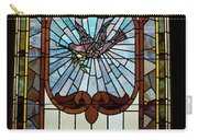 Stained Glass 3 Panel Vertical Composite 05 Carry-all Pouch by Thomas Woolworth