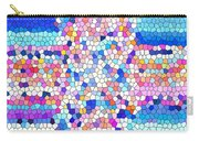 Stained Glass Colorful Cross Carry-all Pouch