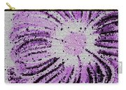 Stained Glass Flower With Purple Stripes Carry-all Pouch