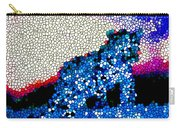 Stained Glass Leopard 1 Carry-all Pouch
