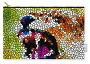 Stained Glass Leopard 3 Carry-all Pouch