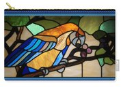 Stained Glass Parrot Window Carry-all Pouch by Thomas Woolworth