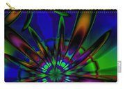 Stained Glass Passion Flowers Carry-all Pouch
