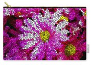 Stained Glass Pink Chrysanthemum Flower Carry-all Pouch