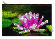 Stained Glass Pink Lotus Flower   Carry-all Pouch by Lanjee Chee
