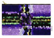 Stained Glass Purple Cross Carry-all Pouch