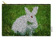 Stained Glass Rabbit Carry-all Pouch