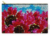 Stained Glass Red Sunflowers Carry-all Pouch