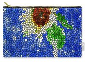 Stained Glass  Sunflower Over The Blue Sky Carry-all Pouch